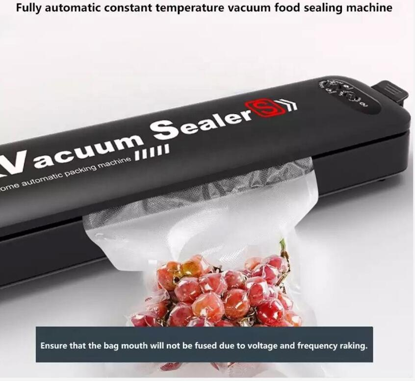 household automatic vacuum sealing machine portable vacuum food preservation plastic sealing