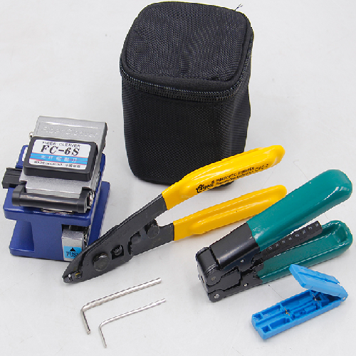 Fiber Optic Tool Kit with Optical Power Meter and Visual Fault Locator and Fiber Cleaver