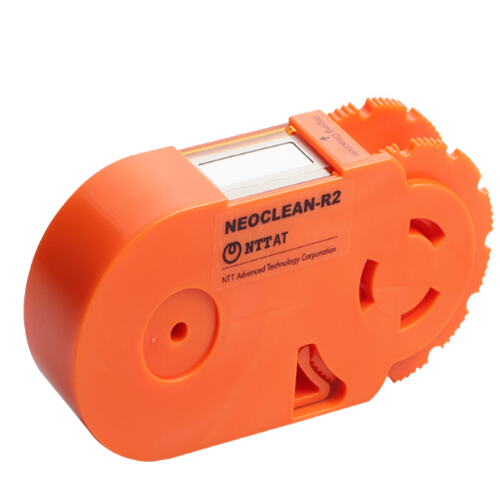 Japan NTTAT fiber cleaning cassette in orange color