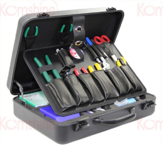 KomShine KFS-35N Basic Fiber Optic Tool Kit Fusion Splicing Toolkit FTTH Assembly