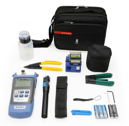 Fiber Optic Termination Tool Kit with 2 in 1 Optical Power Meter + VFL 1mW