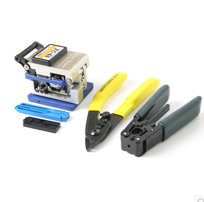 FTTH fiber Cold connection tool power meter visual fault locator fiber cleaver optical fiber tool kits