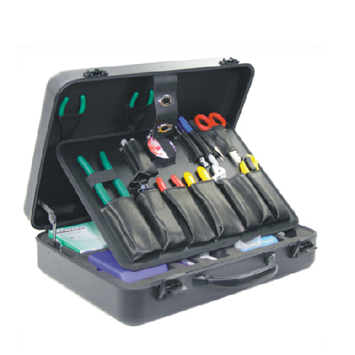 DW-10 21 Pieces Fiber Optic Fusion Splicing Tool Kit Fusion Splicing Tool Box
