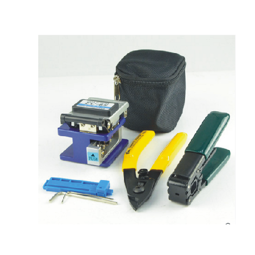 Bag type FTTH Fiber Optic Tool Kit  with Optical Power Meter and Visual Fault Locator and Fiber Cleaver